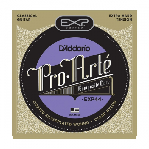 Encordoamento para Violao D'Addario EXP44 Coated Classical Guitar Extra Hard