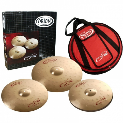 Kit de Pratos Orion Revolution Pro c/ 3 Pratos e Bag RP70