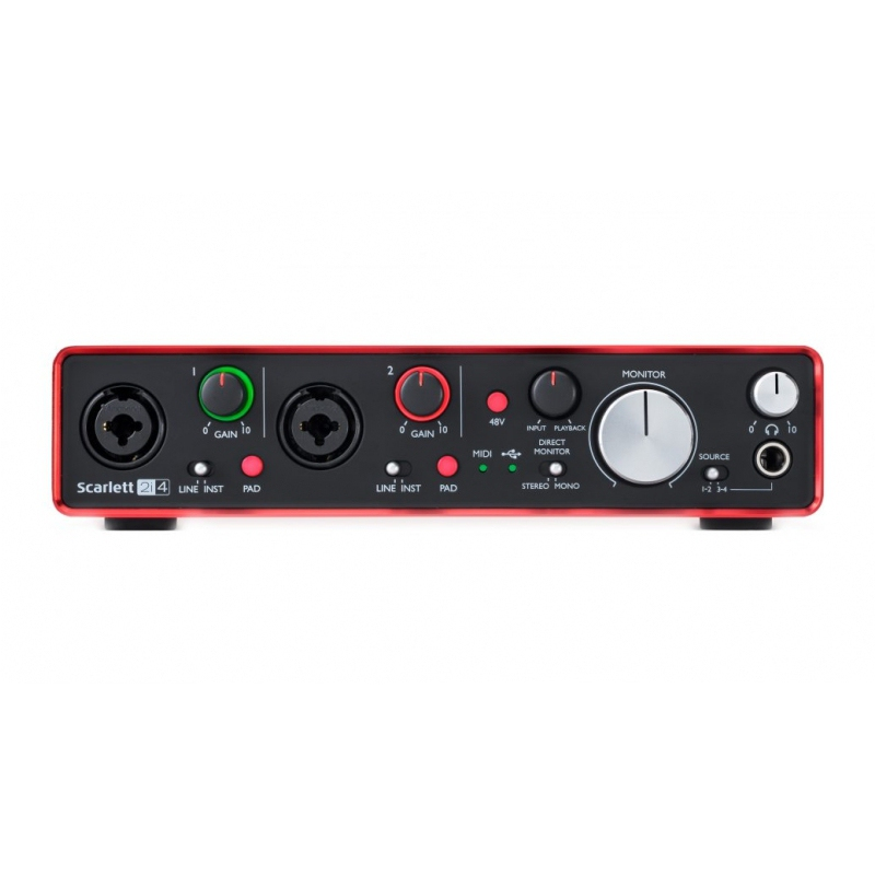Interface de Áudio Focusrite Scarlett 2I4