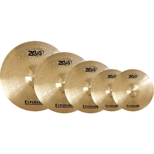 "Kit de Pratos Zeus Explosion Set c/ 14"", 16"", 18"" e 20"""