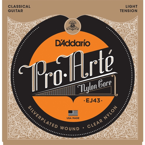 Encordoamento para Violao D'Addario EJ43 Pró Arte Nylon Core T. Light