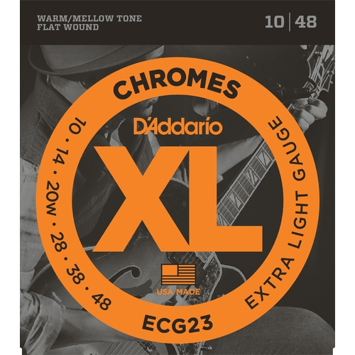 Encordoamento para Guitarra D'Addario ECG23 Chromes Extra Light 0.010