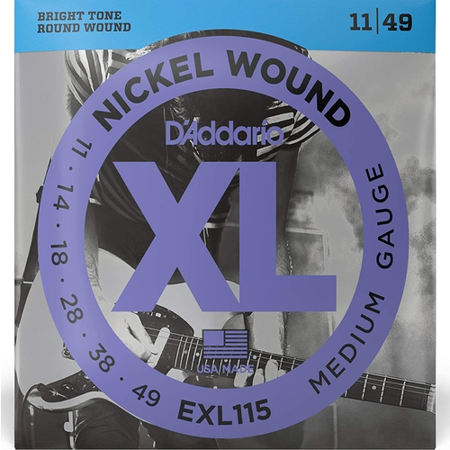 Encordoamento para Guitarra D'Addario EXL115 Blues/Jazz Rock 0.011