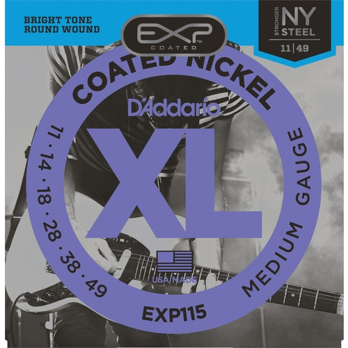 Encordoamento para Guitarra D'Addario EXP115 Blues-Jazz Rock 0.011